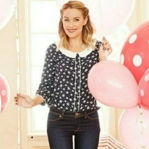 Lauren Conrad peter pan collar blouse